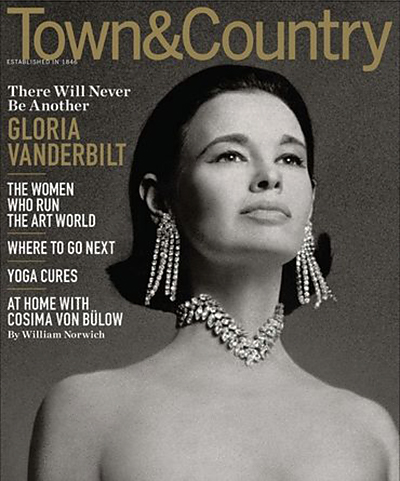 cover of Town & Country, November, 2010